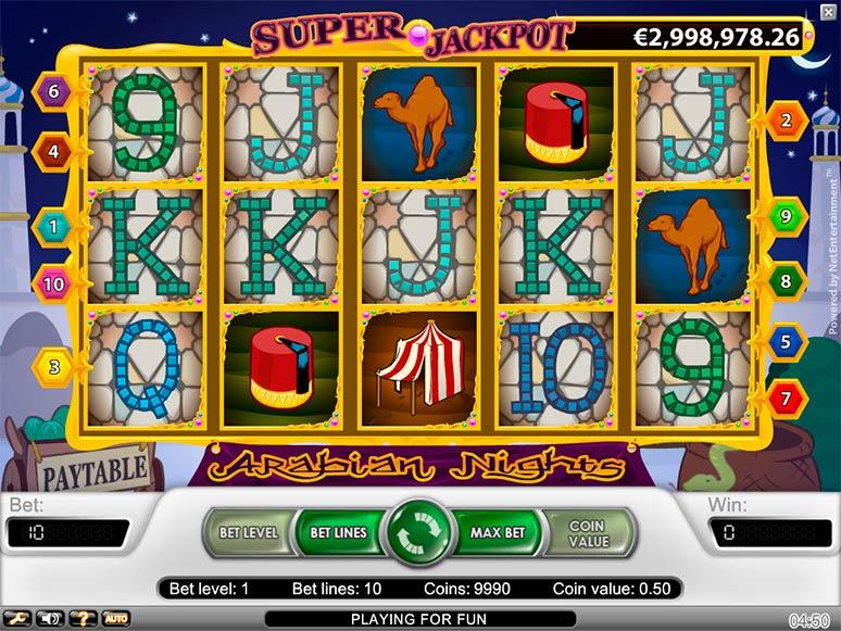 slotmachine gratis arabian nights