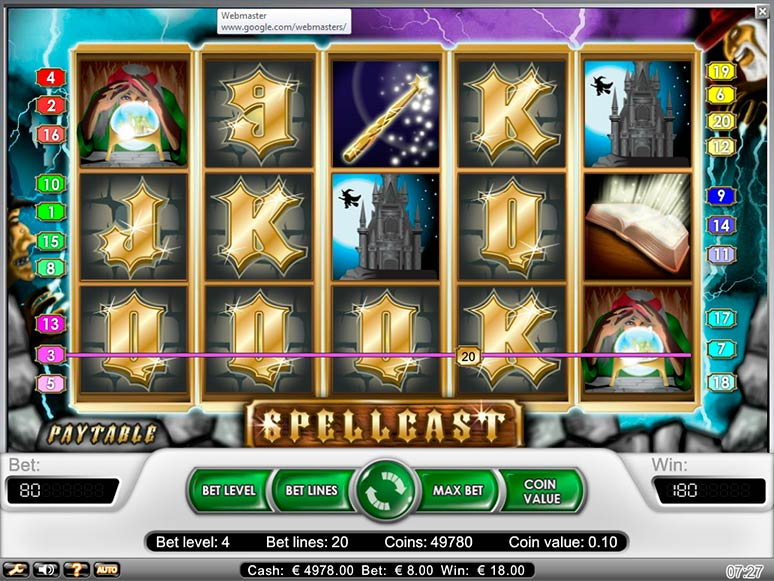 slot machine gratis spellcast