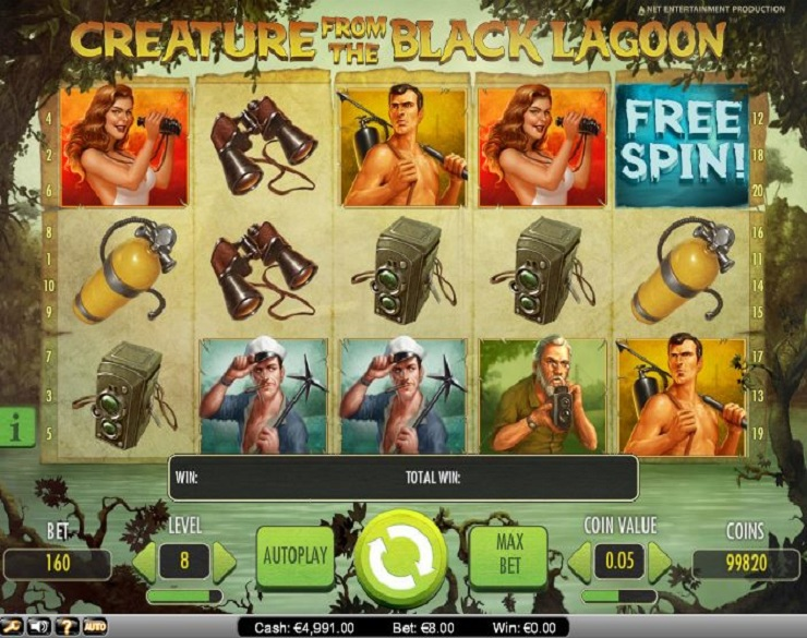 creature from the black lagoon slot machine gratis