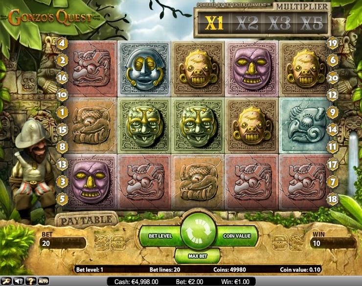 gonzo's quest slot machine gratis