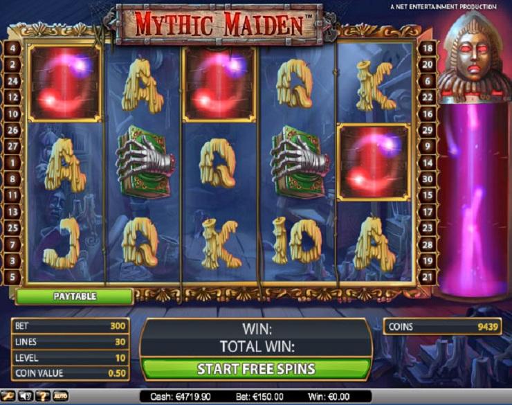 mythic maiden slot machine gratis