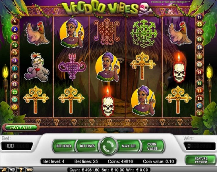 voodoo vibes slot machine gratis