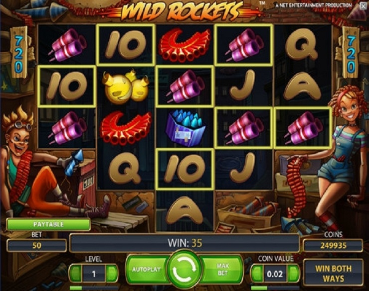 wild rockets slot machine gratis