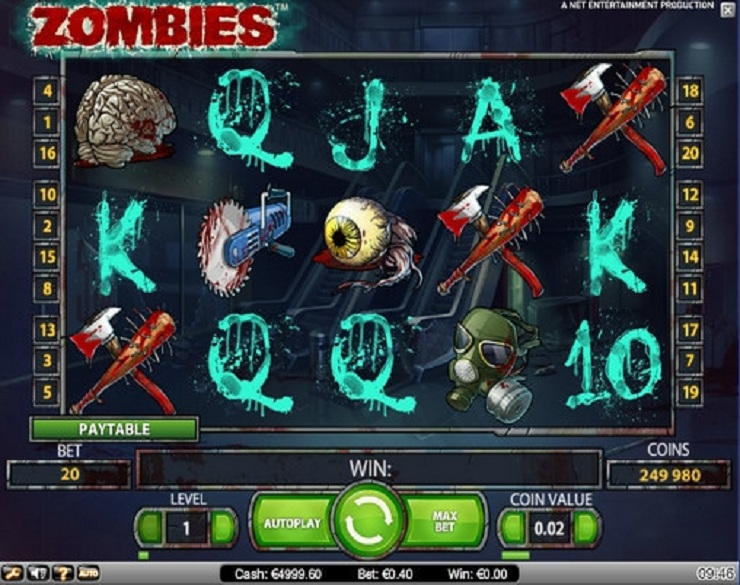 zombies slot machine gratis