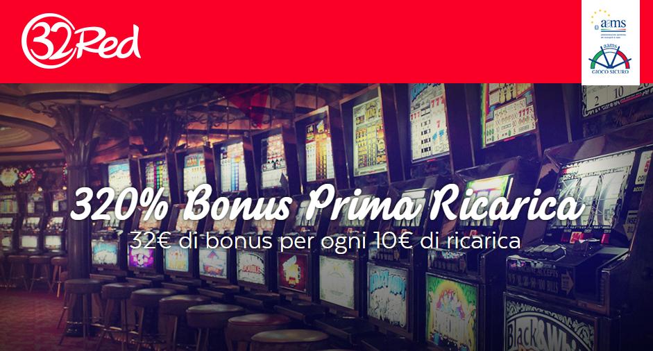 32Red Casino Bonus di Benvenuto