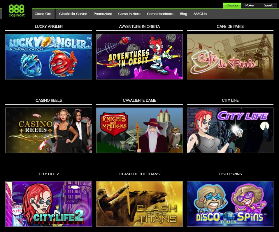 888 Casino Giochi Slot