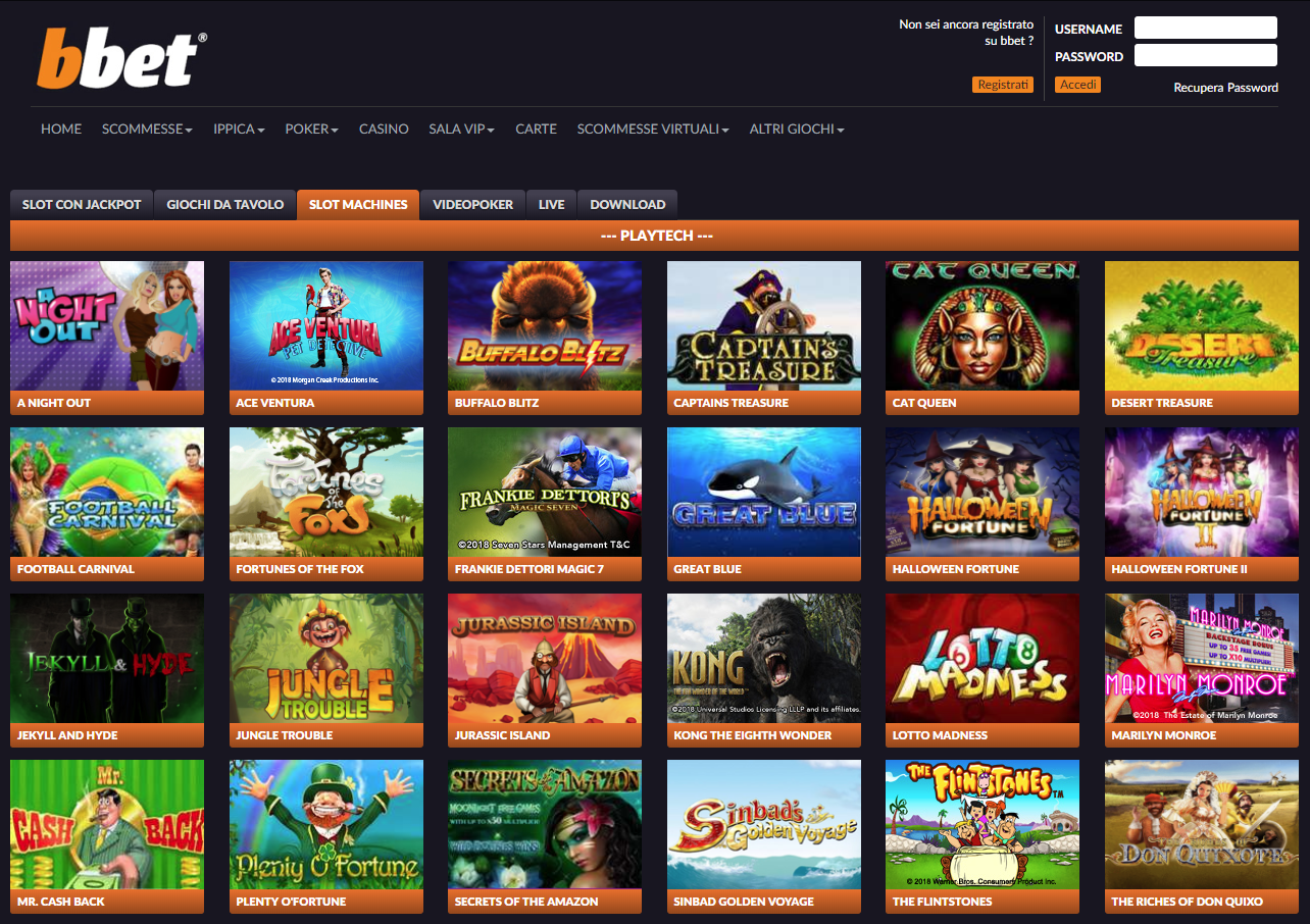 Bbet Casino Giochi Slot