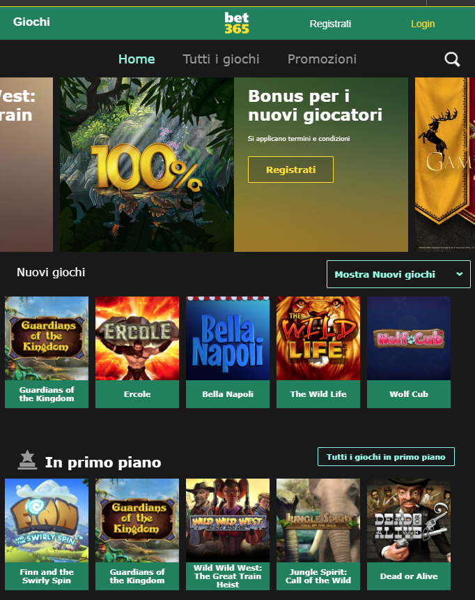 Bet365 Casino Giochi Slot