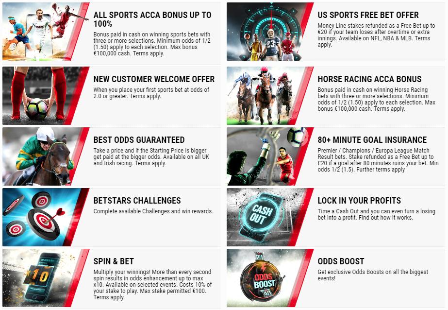 BetStars Bonus di Scommesse Sportive