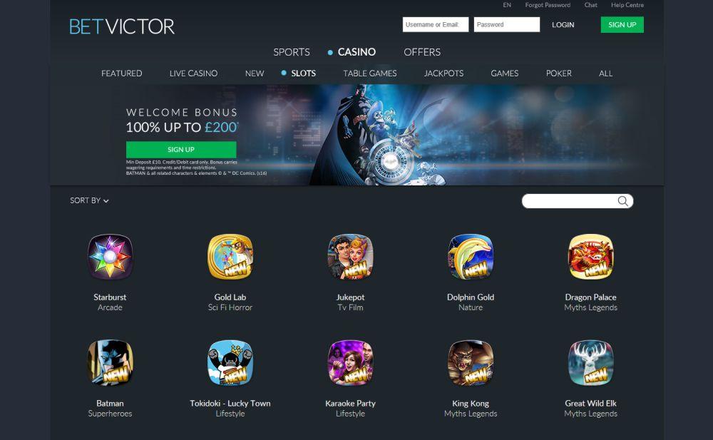 BetVictor Casino Giochi Slot