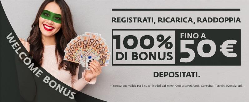 Betaland Casino Bonus di Benvenuto