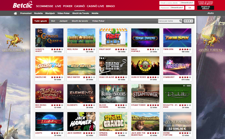 Betclic Casino Giochi Slot
