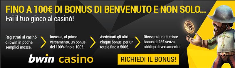 Bwin Casino Bonus di Benvenuto
