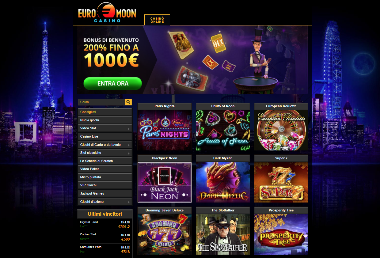 Euromoon Casino Giochi Slot