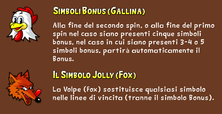 Fowl Play Gold Simboli Speciali: Gallina e Fox