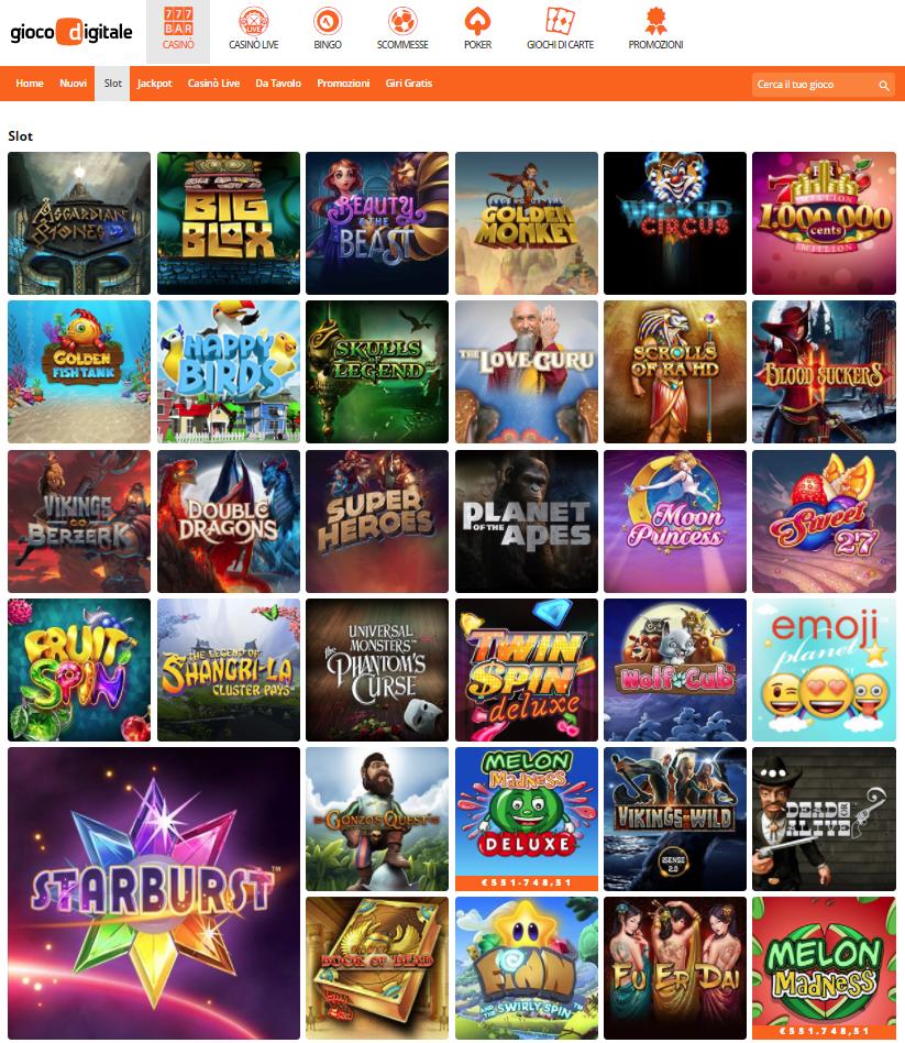 Gioco Digitale Casino Giochi Slot