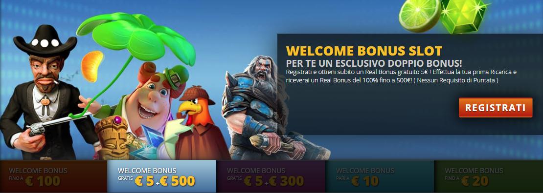 Intralot Casino Bonus senza deposito e Bonus di Benvenuto
