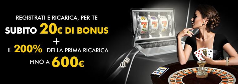 Lottomatica Casino Bonus di Benvenuto