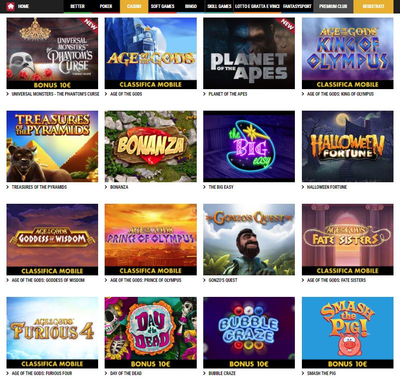Lottomatica Casino Giochi Slot