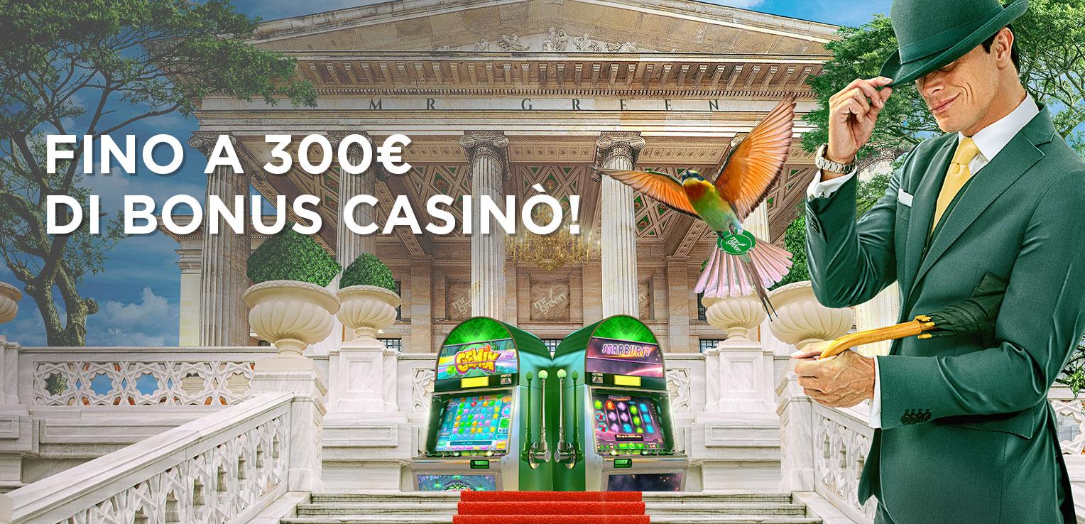 Mr Green Casino Bonus di Benvenuto