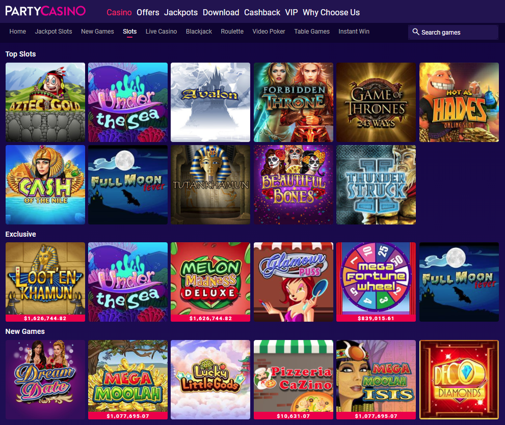 Party Casino Giochi Slot