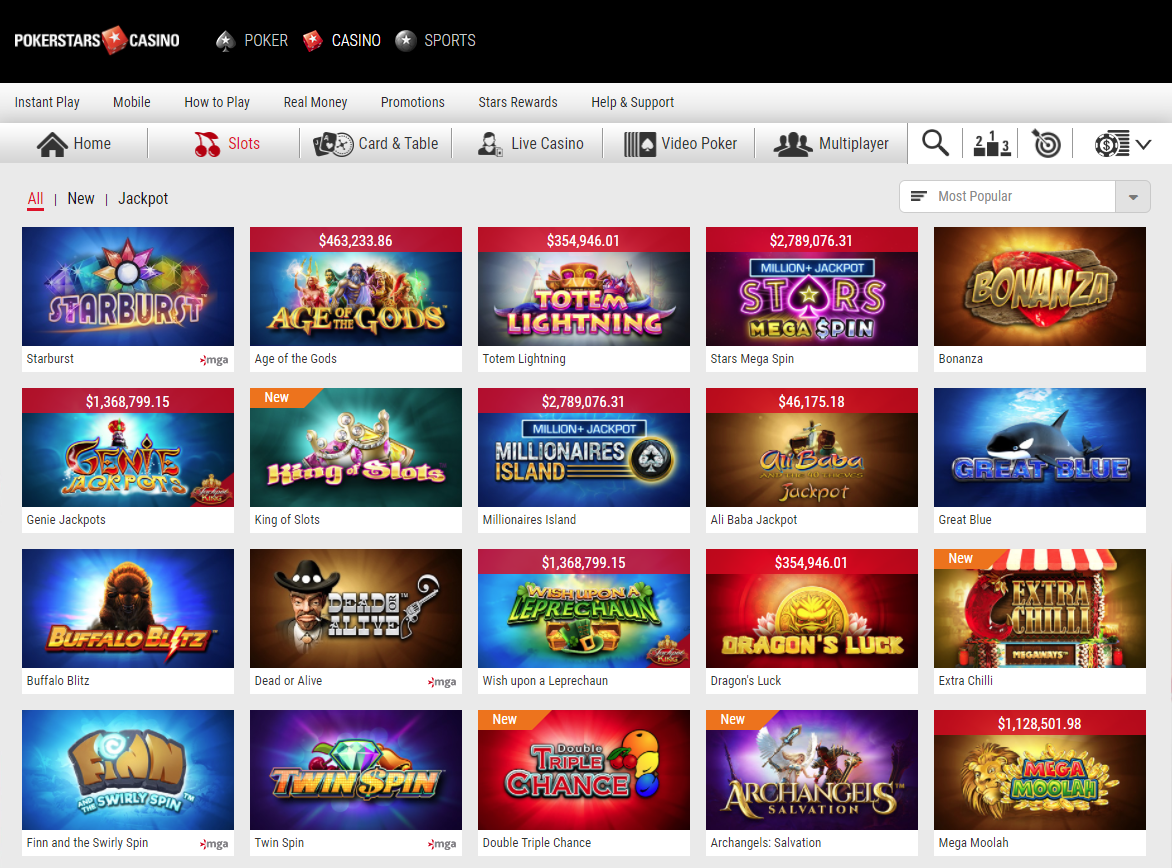 PokerStars Casino Giochi Slot
