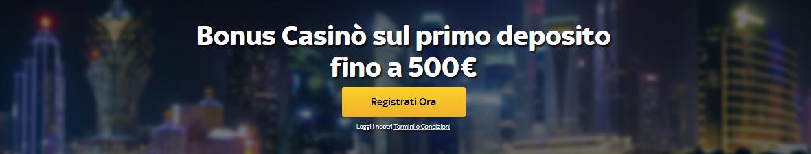 Sky Bet Casino Bonus di Benvenuto