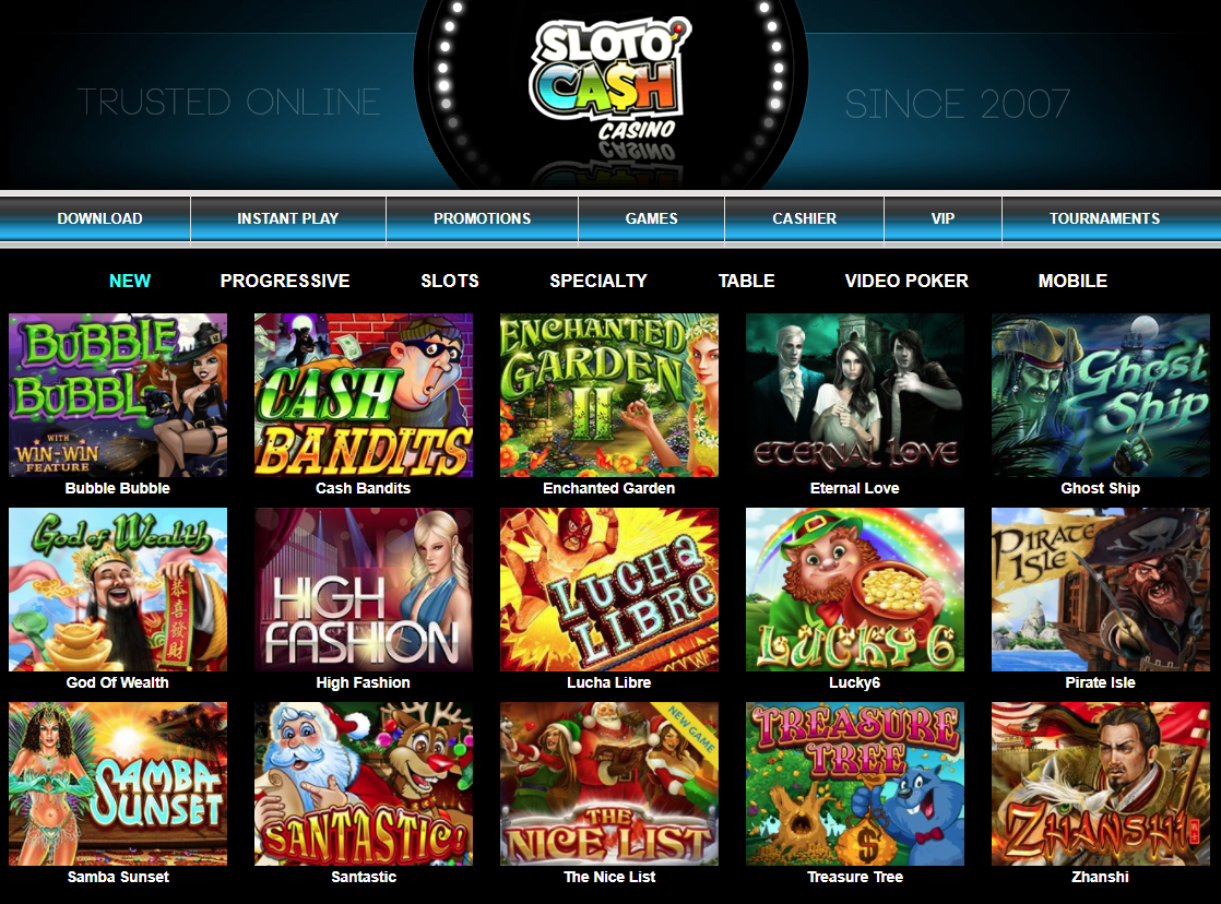 Sloto Cash Casino Giochi Slot