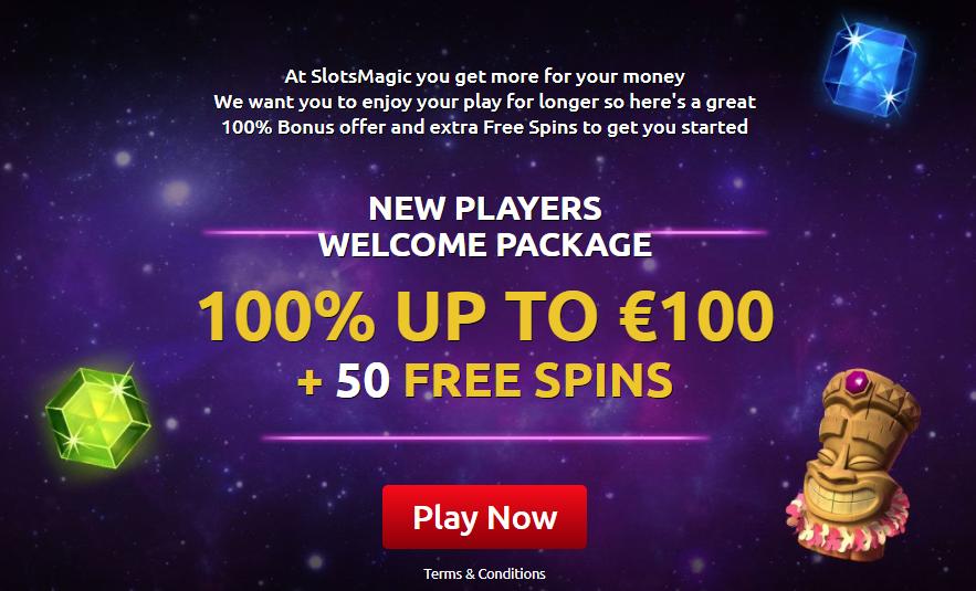 SlotsMagic Casino Bonus di Benvenuto