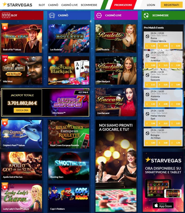StarVegas Casino Giochi Slot
