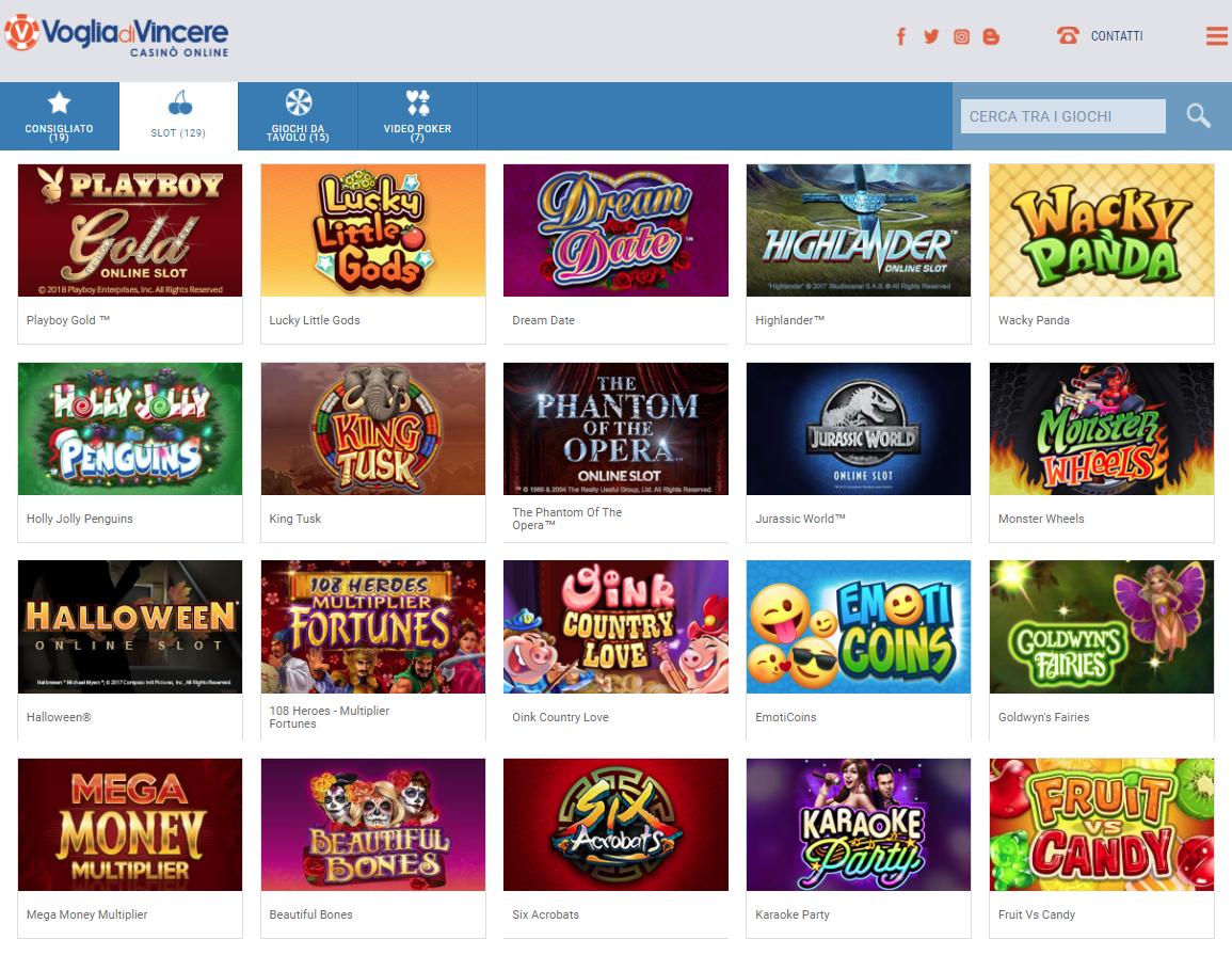 Voglia di Vincere Casino Giochi Slot