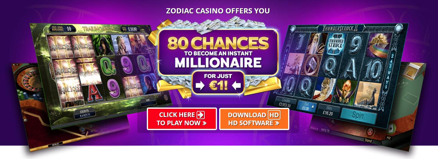 Zodiac Casino Bonus di Benvenuto
