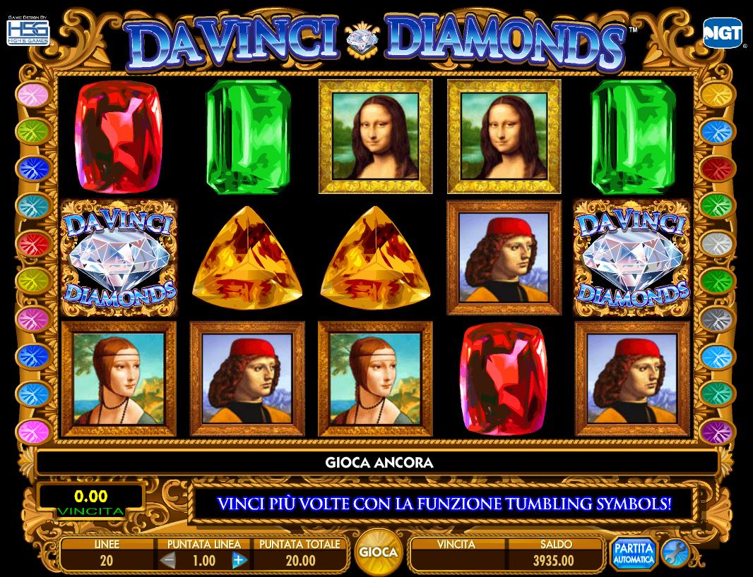 Da Vinci Diamonds Giochi Gratis
