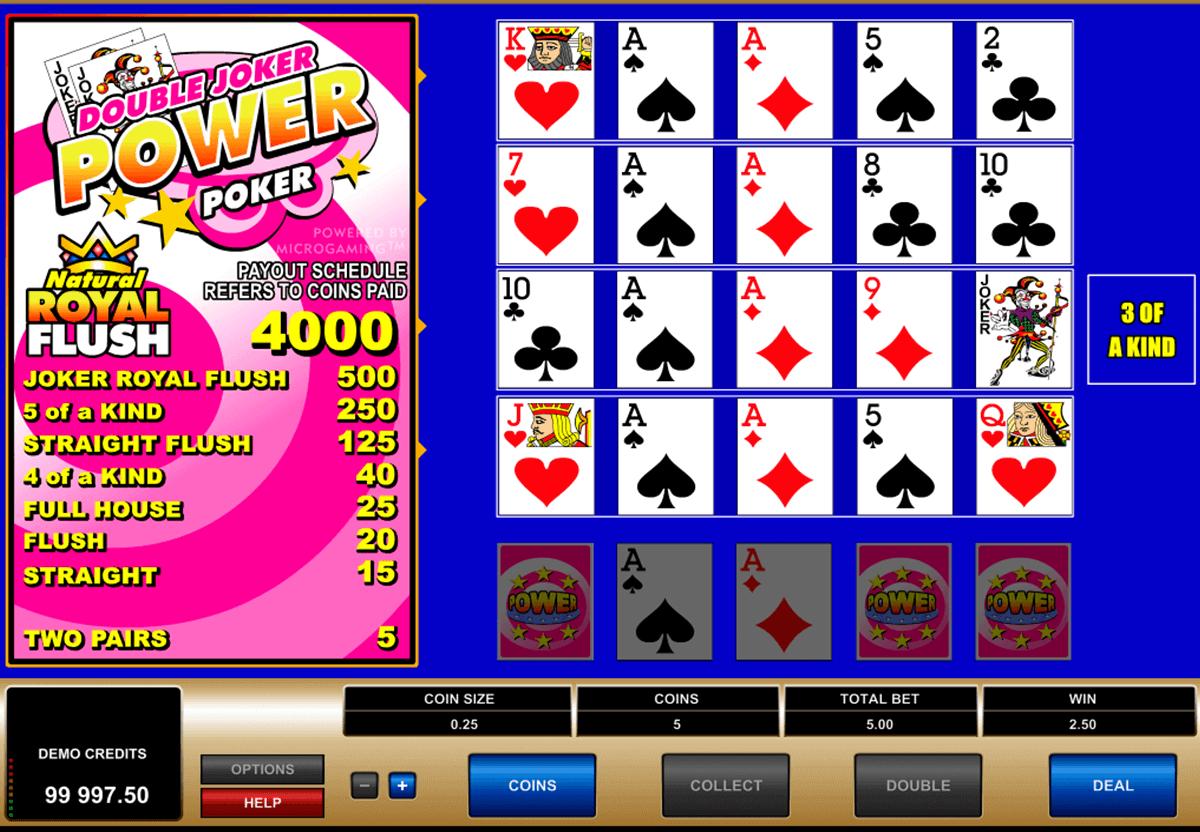 Double Joker 4 Play Power Poker