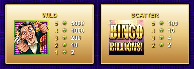 Gioco Bingo Gratis   simbolo Scatter e Wild
