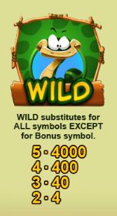 Gioco Snake   simbolo Wild