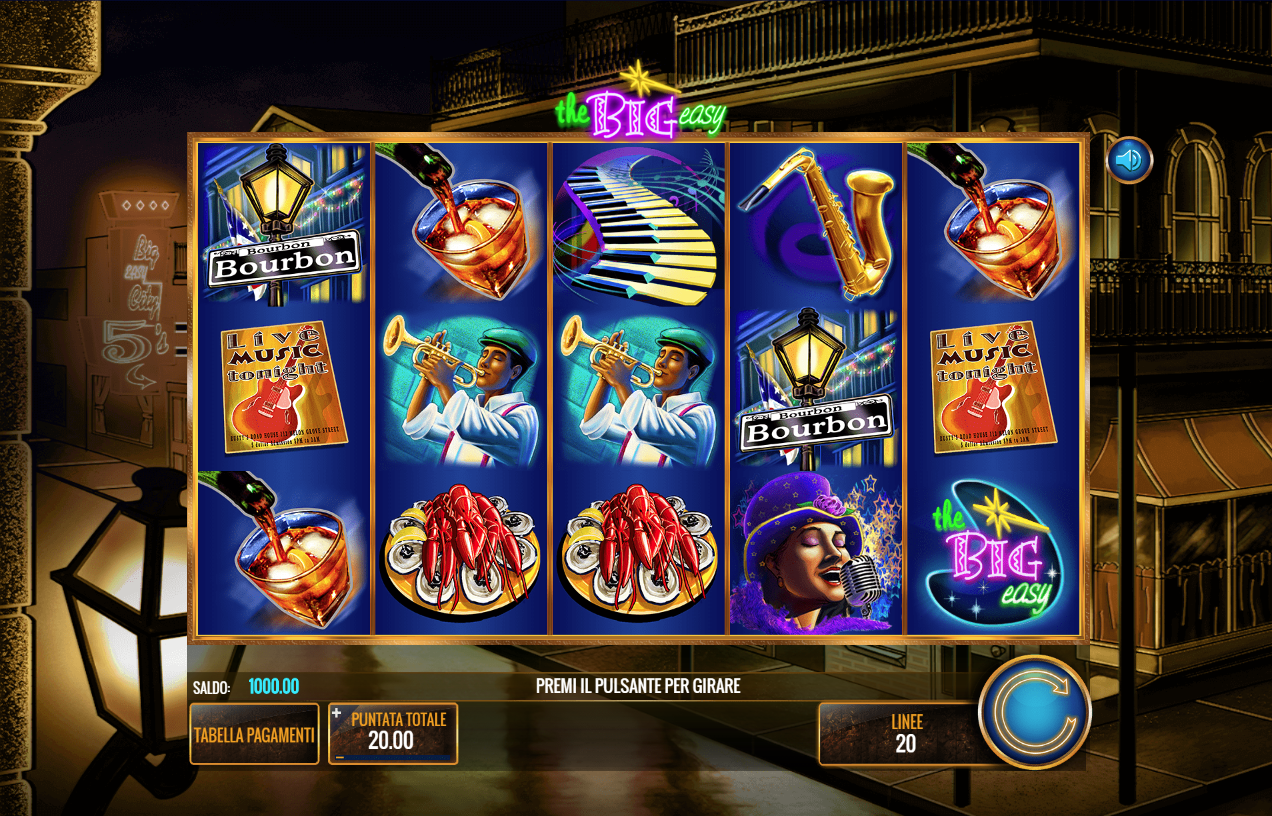 Slot big easy gratis